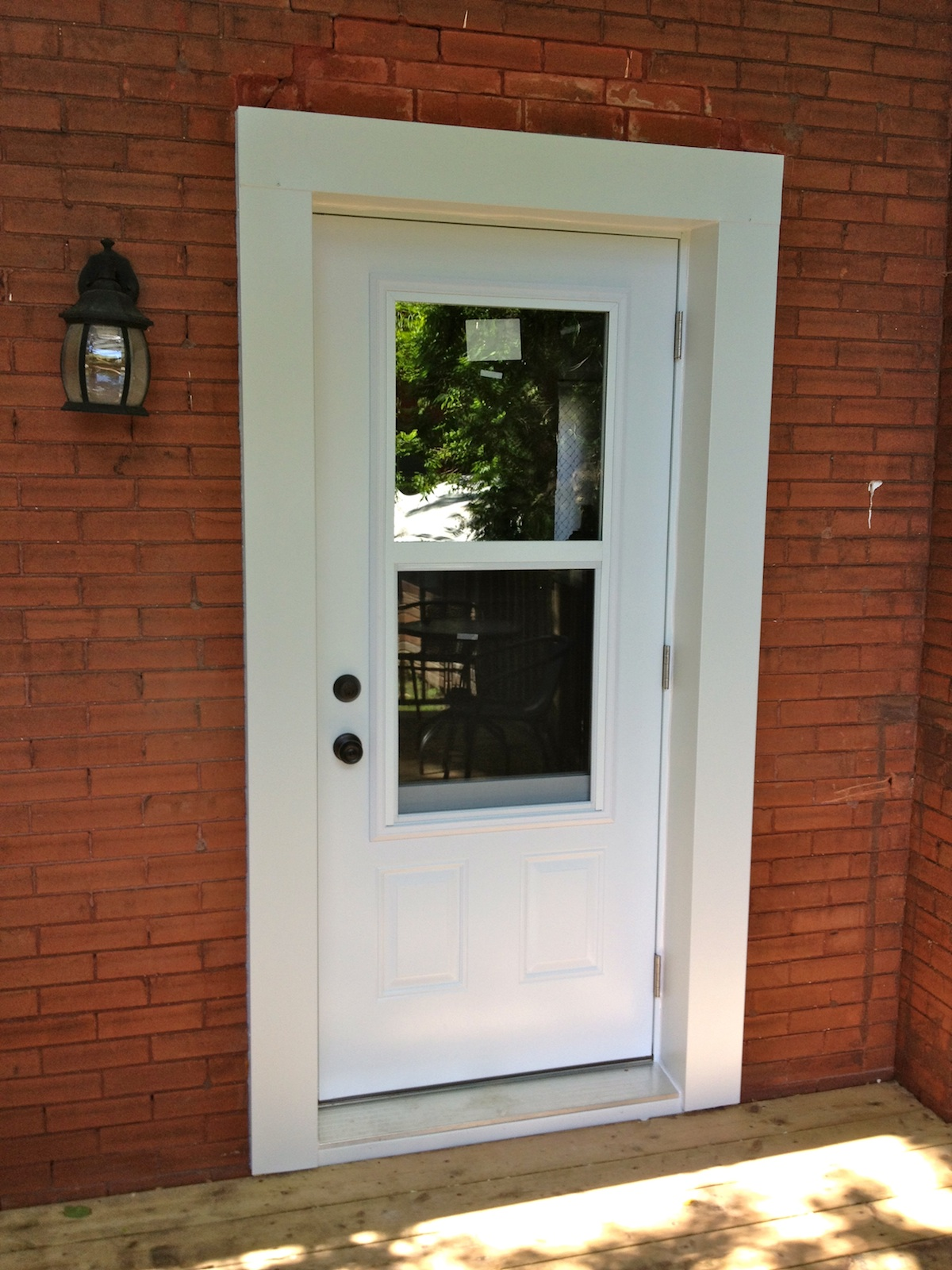 Gallery before after premium plus guelph for Front door with opening window
