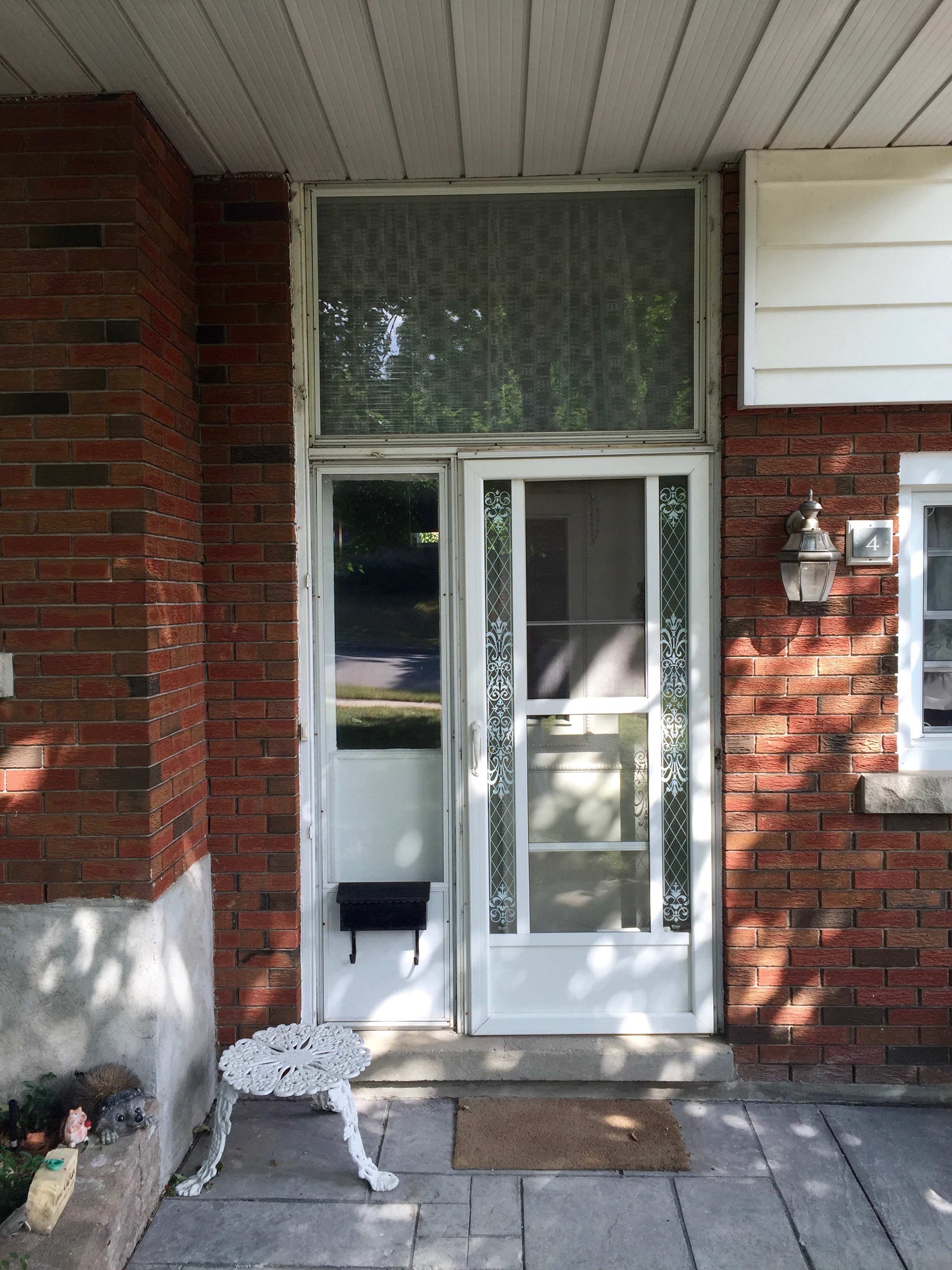gallery before after premium plus guelph an old bow window replaced with a flat fixed window and two casements our mason reset the sill stronger and waterproof